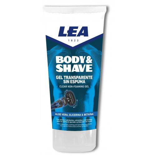 Гель для бритья тела LEA BODY & SHAVE Clear Gel 175 ml