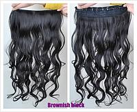 Новинка! Лучший выбор! Накладная прядь, длинные волнистые волосы, наращивание волос, цвет - коричнево-черный