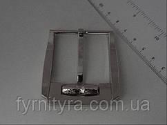 Пряжка ременная 40мм 3555, никель