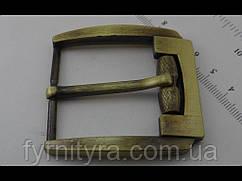 Пряжка ременная 40мм 3557, старый антик