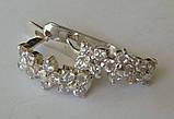 Серьги 40984Г, серебро 925 проба, кубический цирконий., фото 5