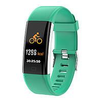 Фитнес браслет с тонометром F07 plus для iPhone Android пульсометр, калории датчик сна зеленый
