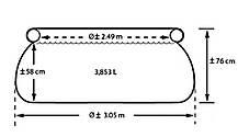 Надувной семейный бассейн Intex 28120 размер 305*76 см, фото 3