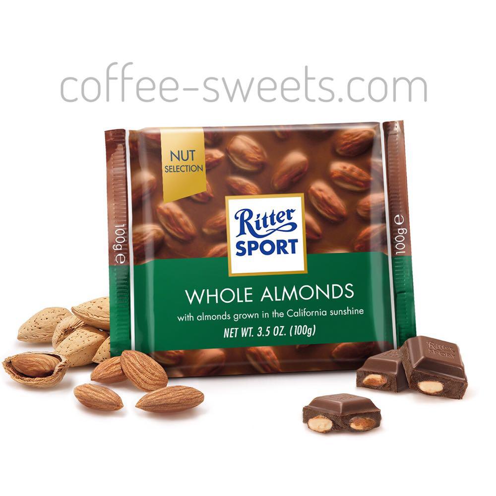 Шоколад Ritter Sport Whole Almonds 100г