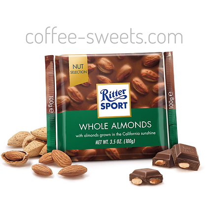 Шоколад Ritter Sport Whole Almonds 100г, фото 2