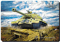 Коврик игровой World of Tanks, Танк ИС-3 размер (220х320 мм), фото 1