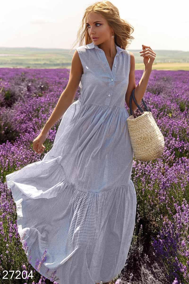 Летнее платье без рукавов S M L XL