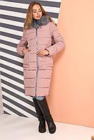 Женское зимнее  пальто Пелагея,  р-ры 42 - 56,  NUI VERY,  Новинка зима 2018-2019, фото 1