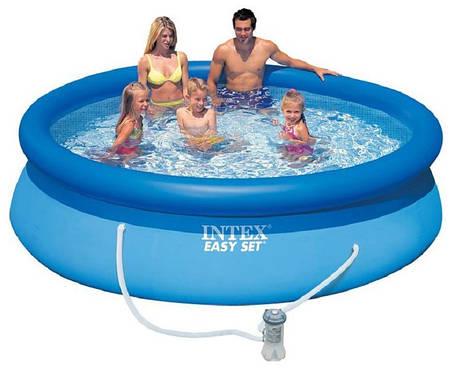 Надувний сімейний басейн Intex 28122 розмір 305*76 см + фільтр-насос, фото 2