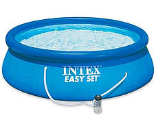 Надувной семейный бассейн Intex 28122 размер 305*76 см + фильтр-насос, фото 2