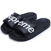 Тапки мужские Supreme (черные) Top replic