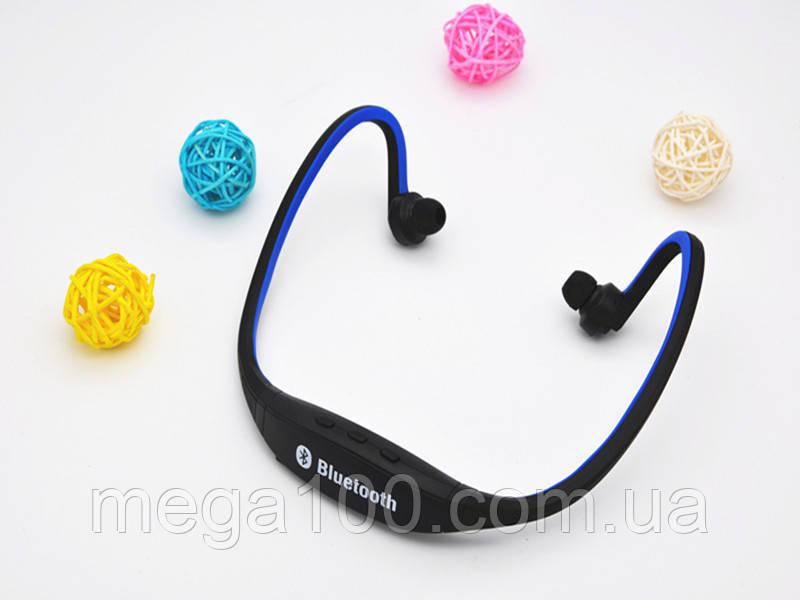 Блютуз гарнитура беспроводная, Bluetooth наушники S9 цвет синий
