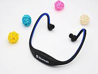 Блютуз гарнитура беспроводная, Bluetooth наушники S9 цвет синий, фото 1