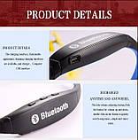 Блютуз гарнитура беспроводная, Bluetooth наушники S9 цвет синий, фото 3