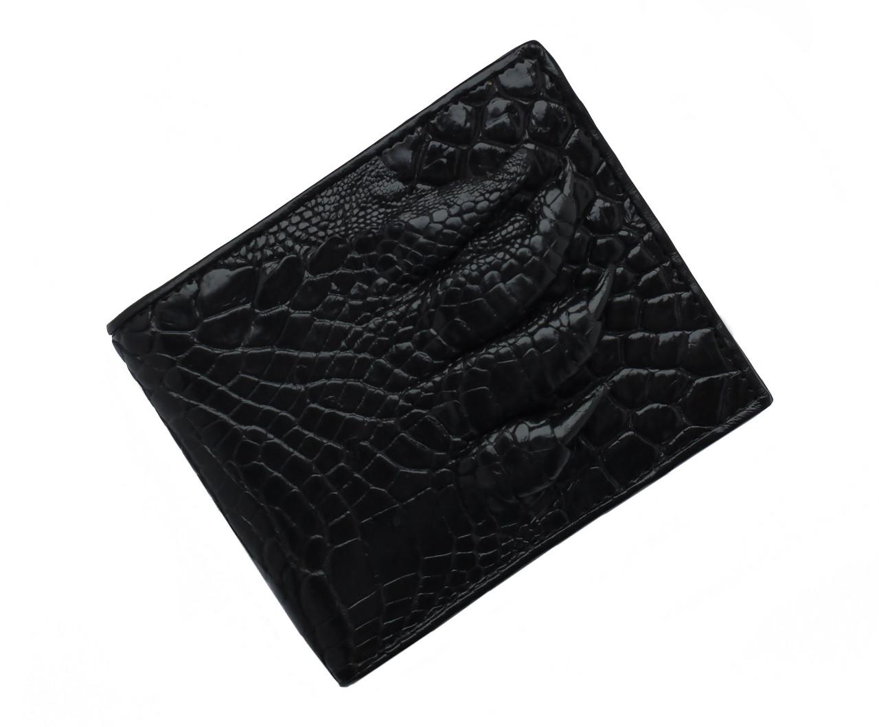 Портмоне из кожи с лапой крокодила Ekzotic Leather