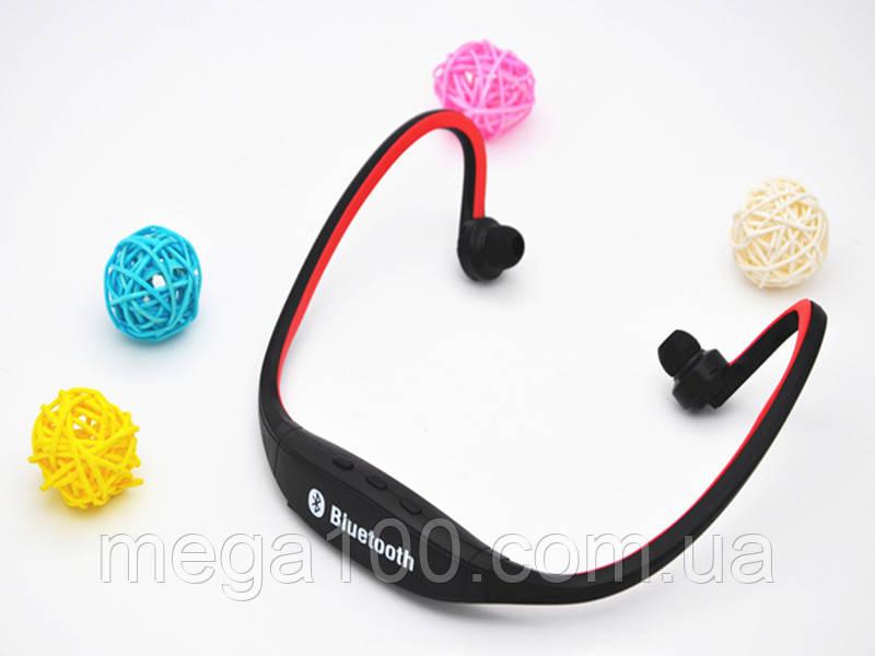 Блютуз гарнитура беспроводная, Bluetooth наушники BS19 цвет красный