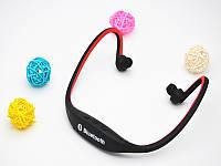 Блютуз гарнитура беспроводная, Bluetooth наушники BS19 цвет красный, фото 1