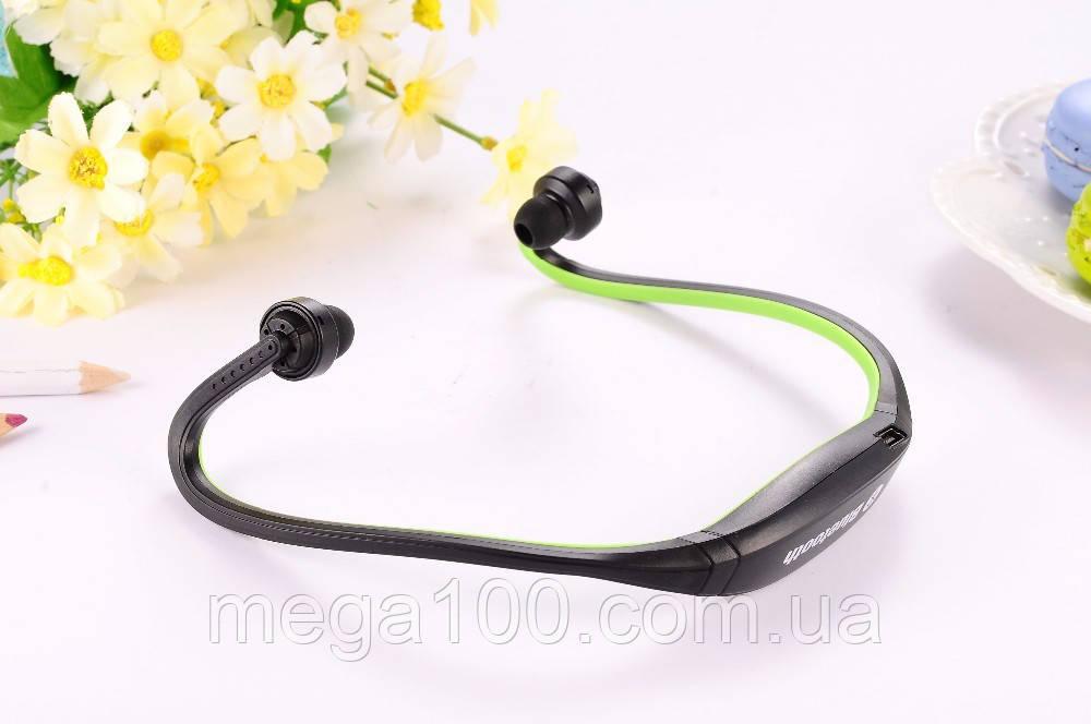 Блютуз гарнитура беспроводная, Bluetooth наушники S9 цвет зеленый
