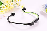 Блютуз гарнитура беспроводная, Bluetooth наушники S9 цвет зеленый, фото 1