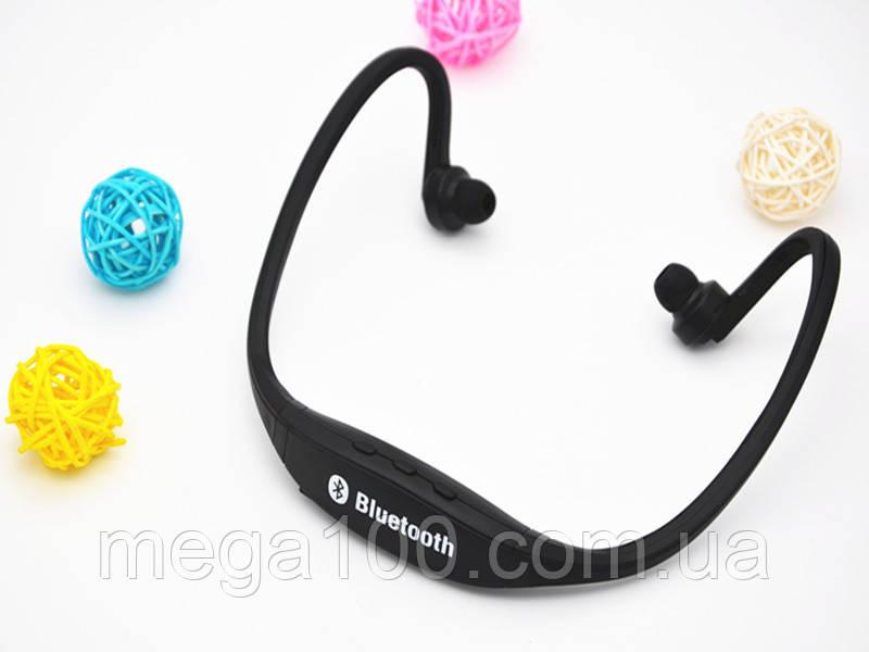 Блютуз гарнитура беспроводная, Bluetooth наушники BS19 цвет черный