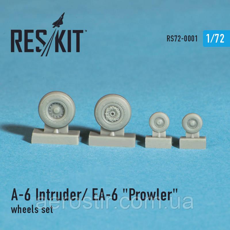 "Grumman A-6 Intruder / EA-6 ""Prowler"" wheels set 1/72  RES/KIT 72-0001"