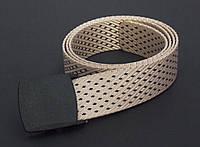 Тканевый бежевый ремень с узором, фото 1