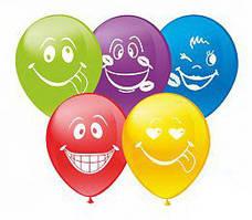 """Воздушные шары Смайлики группа-2 12""""(30 см) пастель цветные. В упак: 100штук Пр-во:ТМ""""Show"""""""