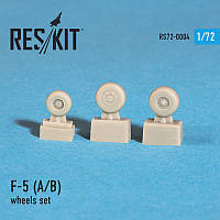 "Northrop F-5 A/B ""Freedom fighter"" wheels set 1/72 RES/KIT 72-0004"