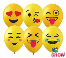 """Воздушные шары Смайлики группа-7 12""""(30 см) пастель желтая В упак: 100штук Пр-во:ТМ""""Show"""""""