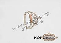 Серебряное кольцо с золотом и цирконом Корона 4
