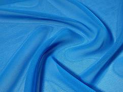 Шифон однотонный, темно-голубой