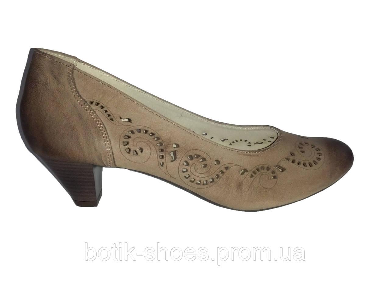 61d631043e85 Туфли женские кожаные на каблуке коричневые Kazkobut 2488 - Bigl.ua