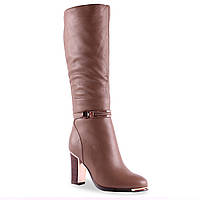 Стильные женские сапоги Molared (зимние, стильные, на удобном каблуке, красивая пряжка, интересный цвет)
