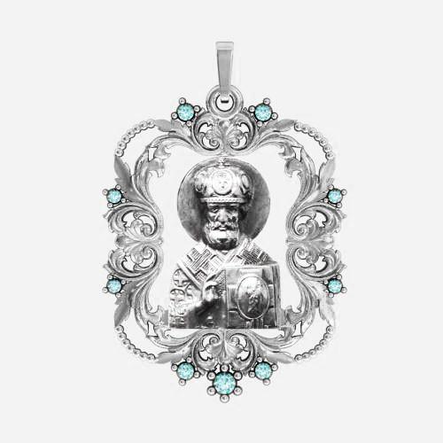 Ладанка серебряная Николай Чудотворец ЛП-145
