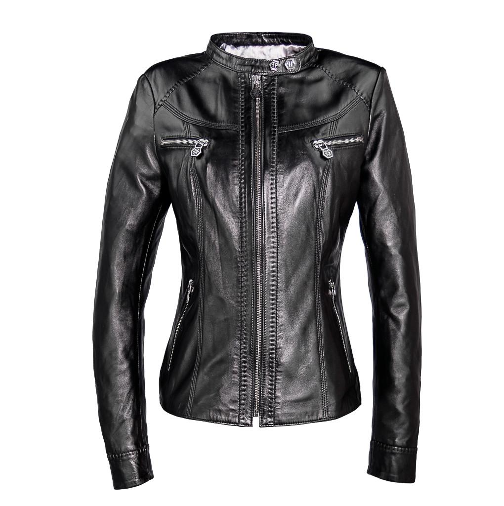 27feaa8c428 Женская кожаная куртка Philipp Plein