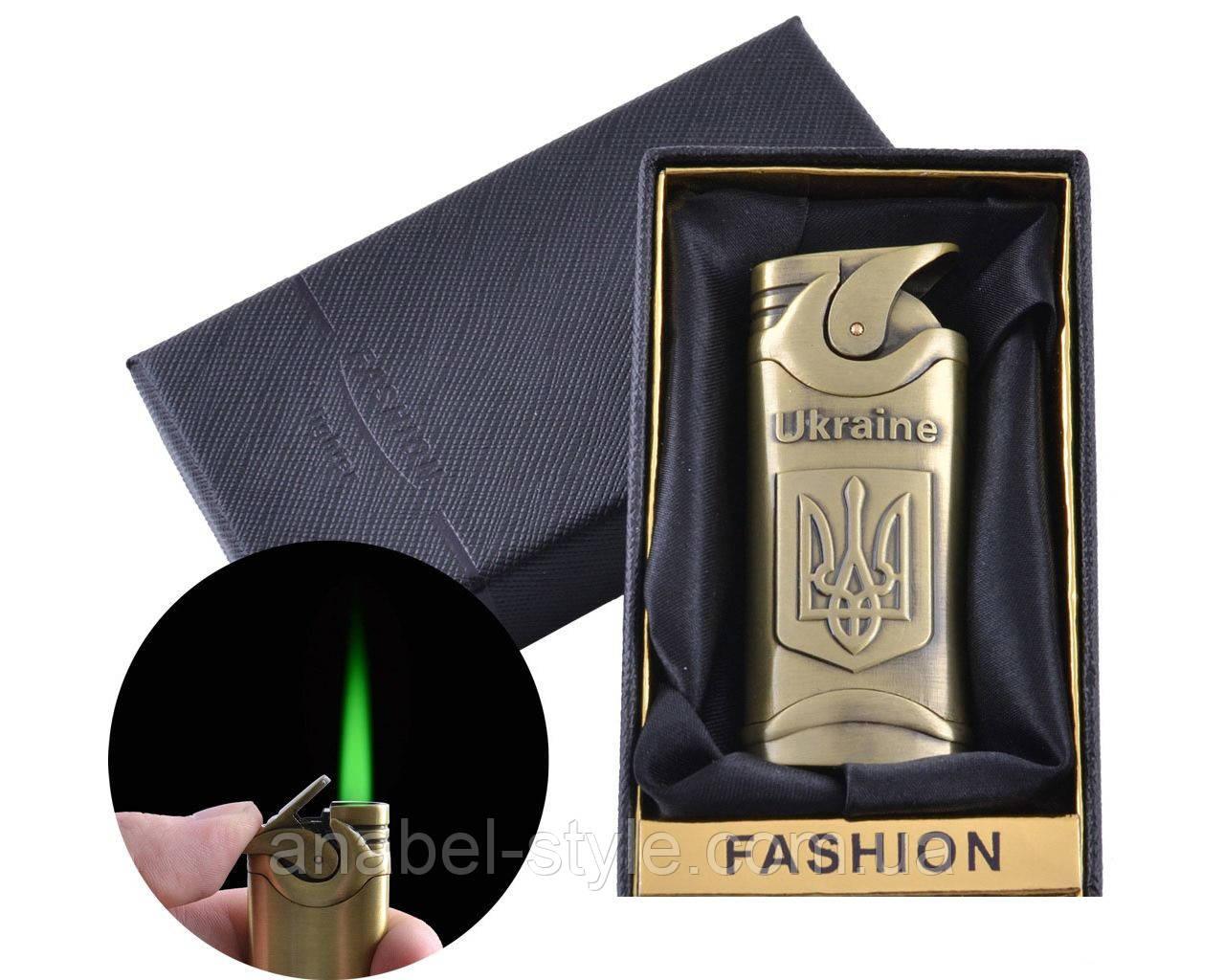 Зажигалка в подарочной упаковке Герб Украины (Турбо пламя) №UA-2 Код 120236