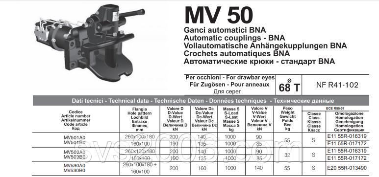 """MV 501 """"FRANCUZ"""" автоматическое сцепное устройство ШКВОРЕНЬ 68 мм"""