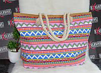 Яркая пляжная сумочка с канатными ручками, фото 1