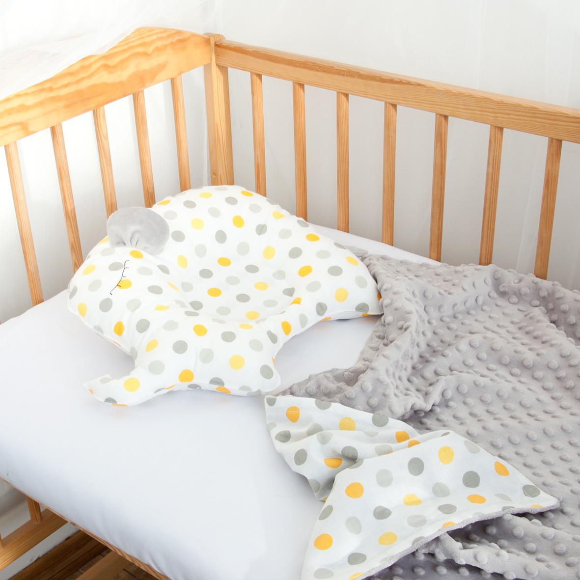 Одеяло на выписку и подушка для новорожденного