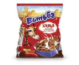 Хлопья Витьба кукурузные глазированные вкус шоколада 330г Беларусь, фото 2