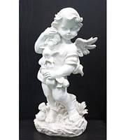 Скульптура Ангел с яблоками бетон 50 см, фото 1
