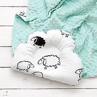 """Плед на выписку и подушка для новорожденного """"Мята и барашки"""", фото 1"""