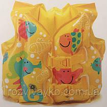 Надувной детский жилет Рыбки Intex 59661