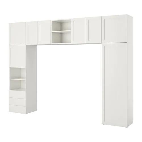 Шкаф IKEA PLATSA 340x42x241 см Fonnes Sannidal белый 292.483.69