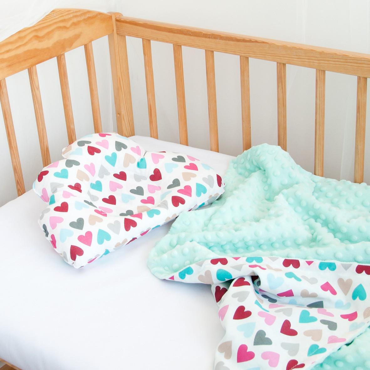 Конверт-плед на выписку и подушка для новорожденного