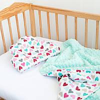 Конверт-плед на выписку и подушка для новорожденного, фото 1