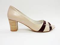 Туфли женские из натуральной кожи на каблуке польша Aga 1850