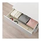 Комод с 3 ящиками IKEA PLATSA 80x55x73 см Skatval светло-серый белый 592.772.56, фото 3