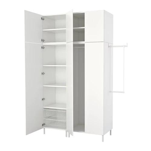 Шкаф IKEA PLATSA 340x42x241 см Fonnes Sannidal белый 392.485.90