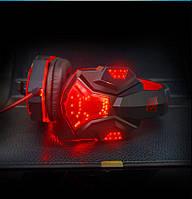 Игровые наушники Plextone PC780 - подсветка, микрофон, цвет красный, фото 1